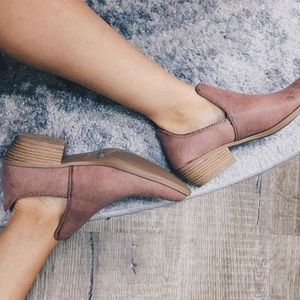 Shoes - CLOSING CLOSET SALE Dusty Rose Open Side Bootie